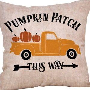 Other - Pillow Cover- NEW- Thanksgiving Fall Truck Pumpkin
